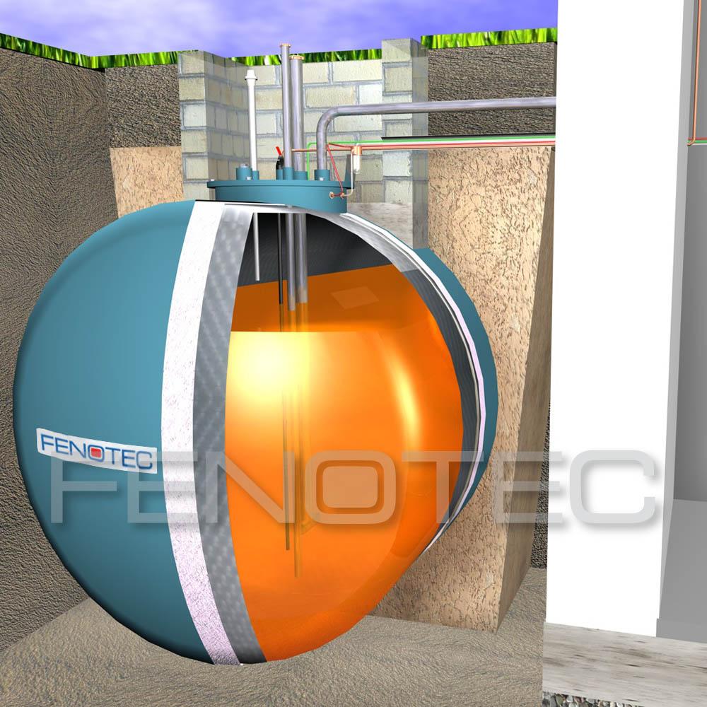 FENOSAFE®U: Kugeltanks aus Beton mit GfK-Innenschale